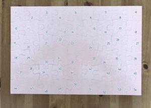 くもんのジグソーパズル パズル裏面のビジュアル資料