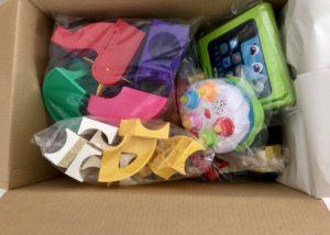 トイサブ おもちゃ梱包例