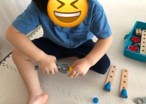 トイサブ おもちゃで遊んでる様子