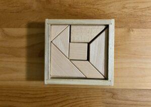 くもんNEWたんぐらむ 木製ピースと木箱